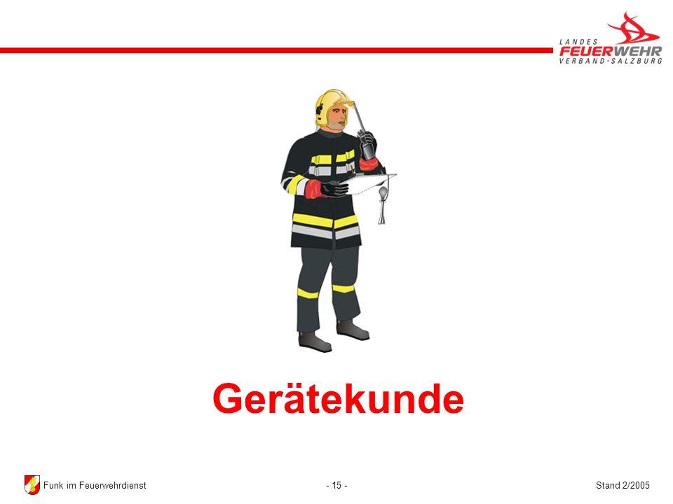 - 15 -Stand 2/2005Funk im Feuerwehrdienst Gerätekunde