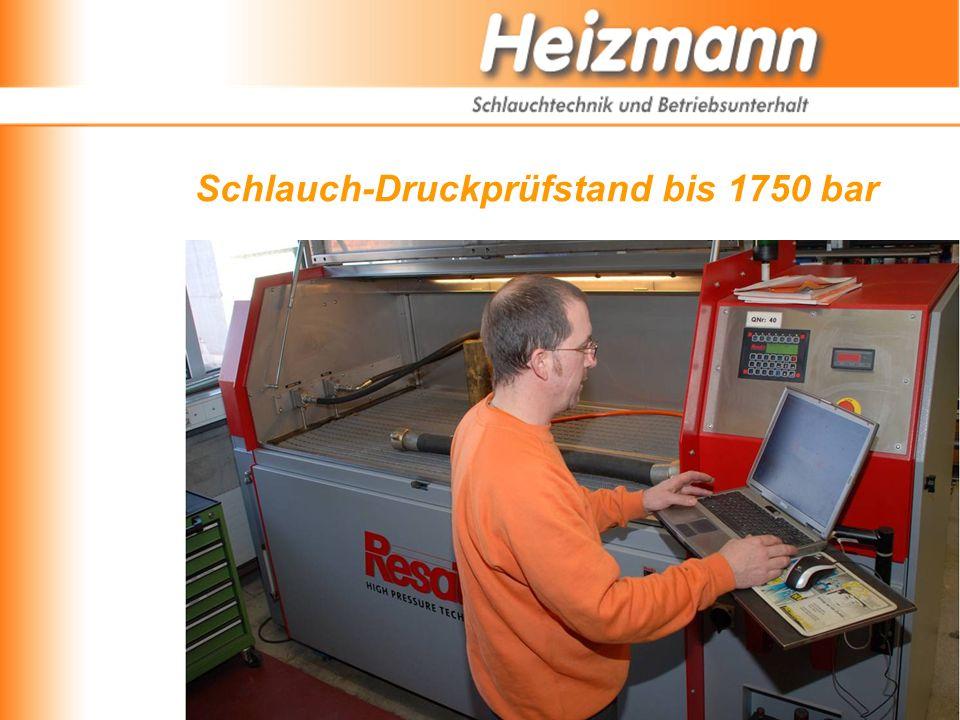 Schlauch-Druckprüfstand bis 1750 bar