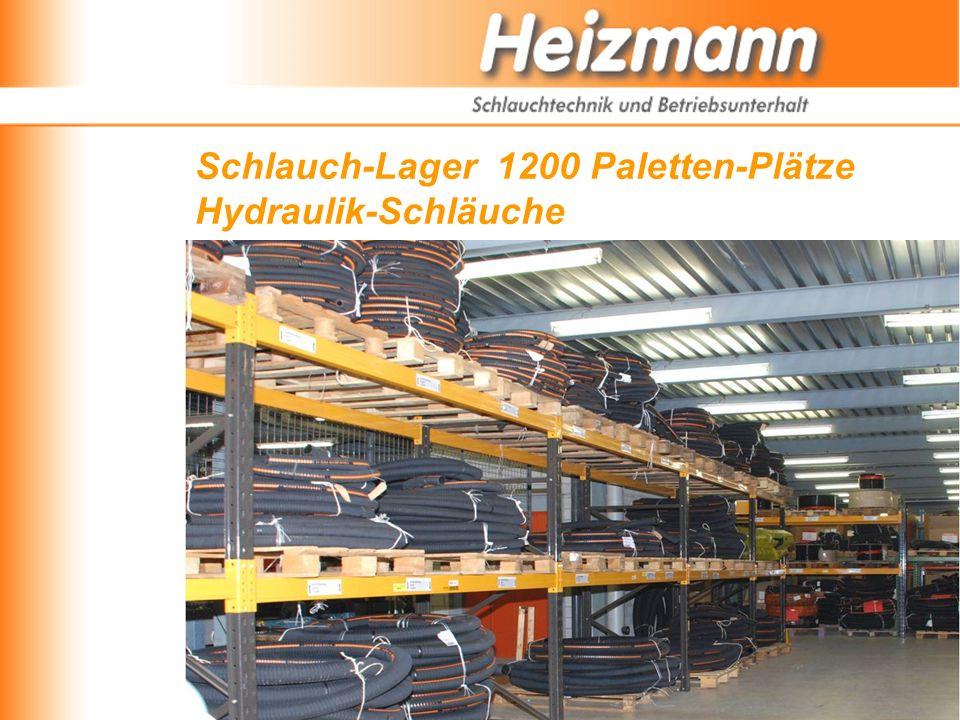 Schlauch-Lager 1200 Paletten-Plätze Hydraulik-Schläuche