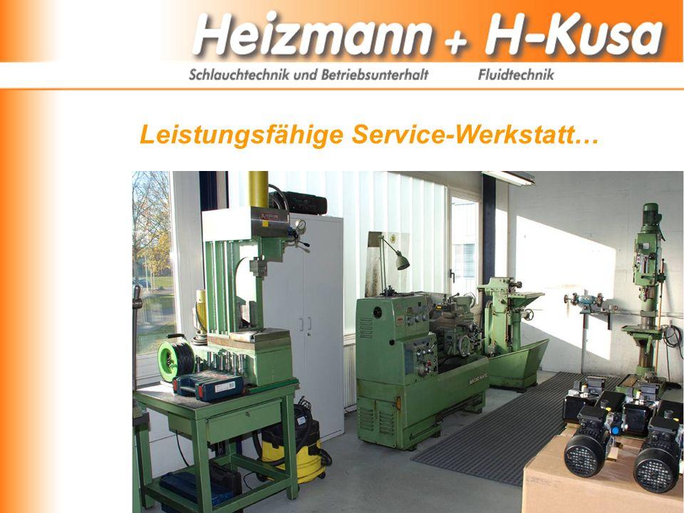 Leistungsfähige Service-Werkstatt…