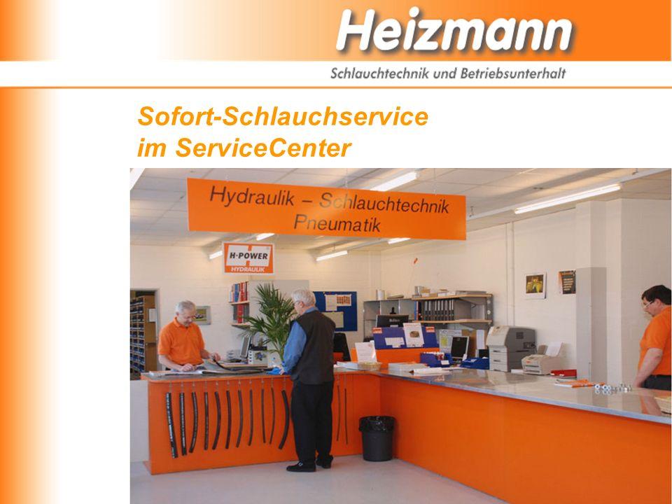 Sofort-Schlauchservice im ServiceCenter