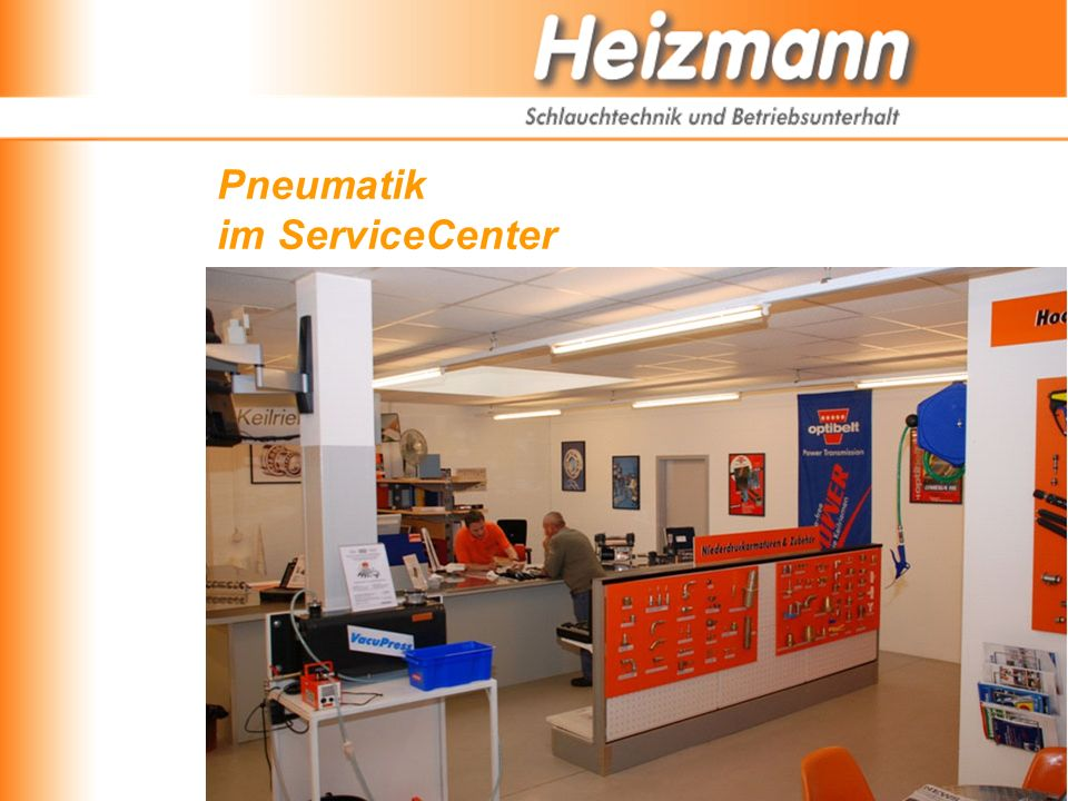 Pneumatik im ServiceCenter