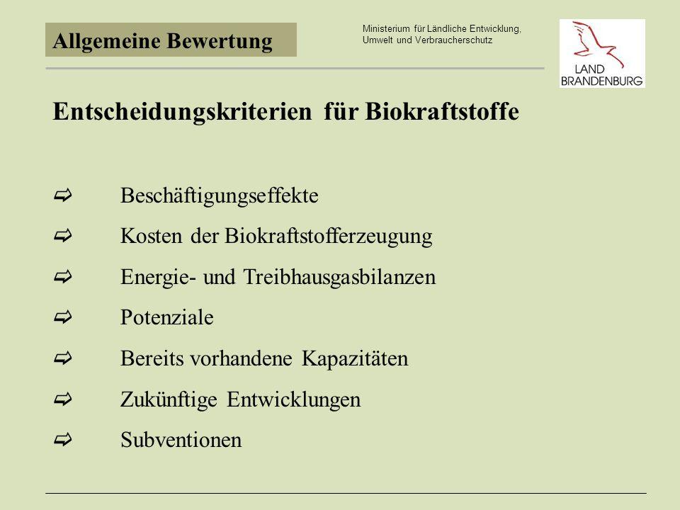 Umweltentlastung Ministerium für Ländliche Entwicklung, Umwelt und Verbraucherschutz Spezifische Treibhausgasemissionen alternativer Kraftstoffe (in kgCO 2 -Äquivalent/GJ) Diesel84,9 FT-Diesel Erdgas99 fossil CNG 250 bar72,8 (Bioethanol36) Biodiesel/RME28,7 FT-Diesel Bio 9 CMG Bio-Vergärung0,2 Aus: Bedeutung von Erdgas als neuer Kraftstoff im Kontext einer nachhaltigen Energieversorgung, Wuppertalinstitut September 2003 1.
