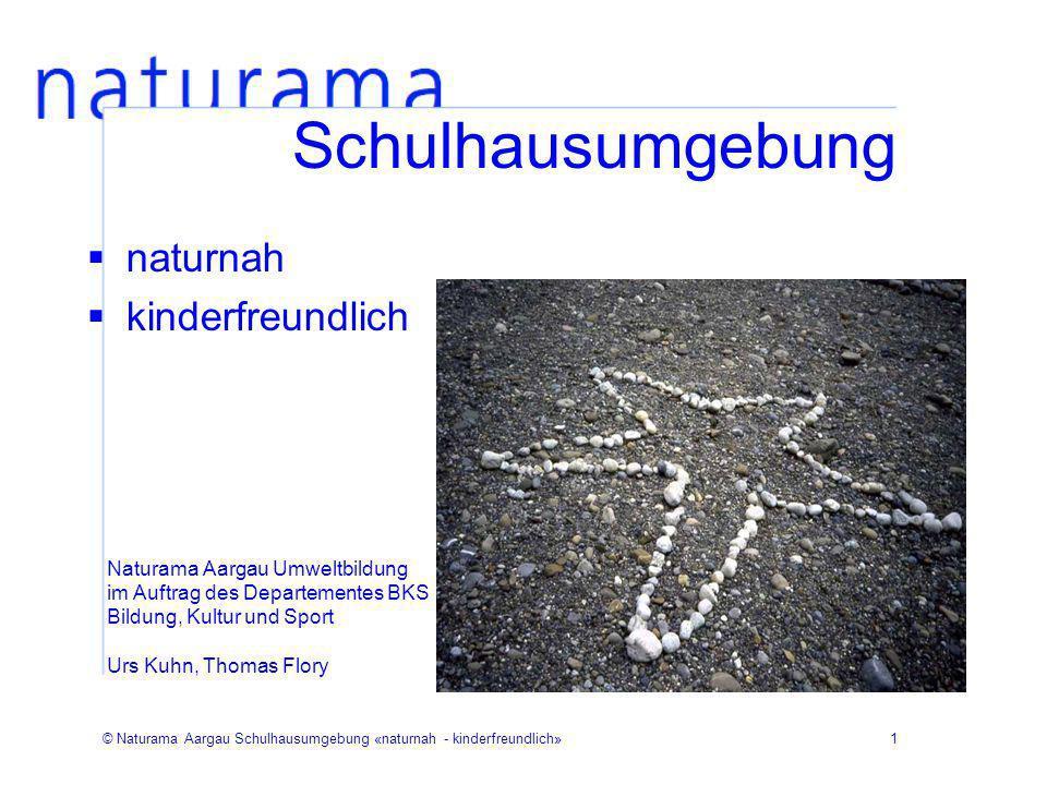 © Naturama Aargau Schulhausumgebung «naturnah - kinderfreundlich»1 Schulhausumgebung naturnah kinderfreundlich Naturama Aargau Umweltbildung im Auftra