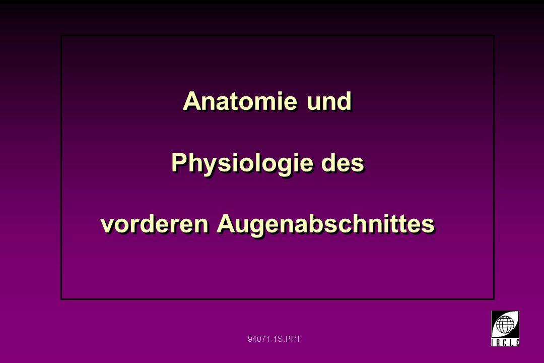 94071-1S.PPT Anatomie und Physiologie des vorderen Augenabschnittes