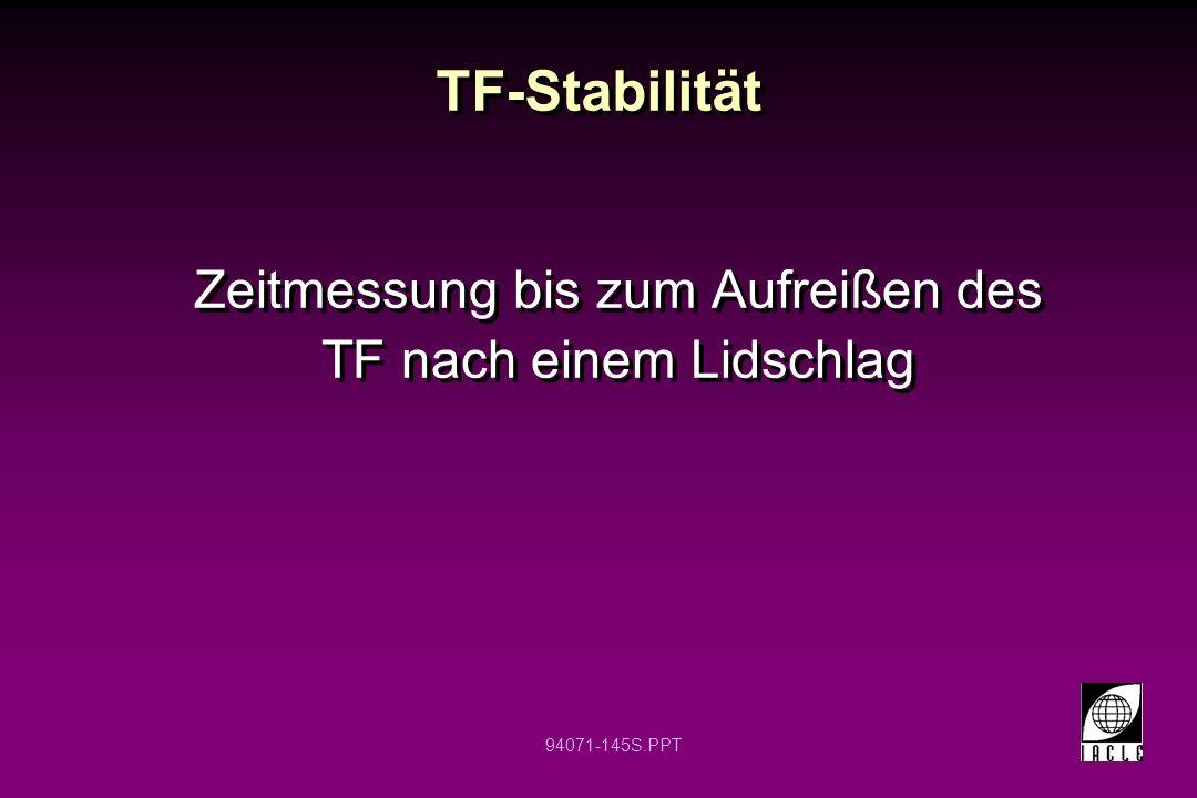 94071-145S.PPT TF-Stabilität Zeitmessung bis zum Aufreißen des TF nach einem Lidschlag