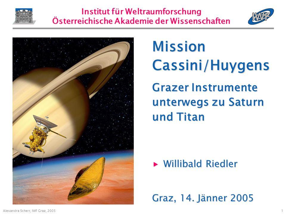 1 Alexandra Scherr, IWF Graz, 2005 Willibald Riedler Willibald Riedler Graz, 14.