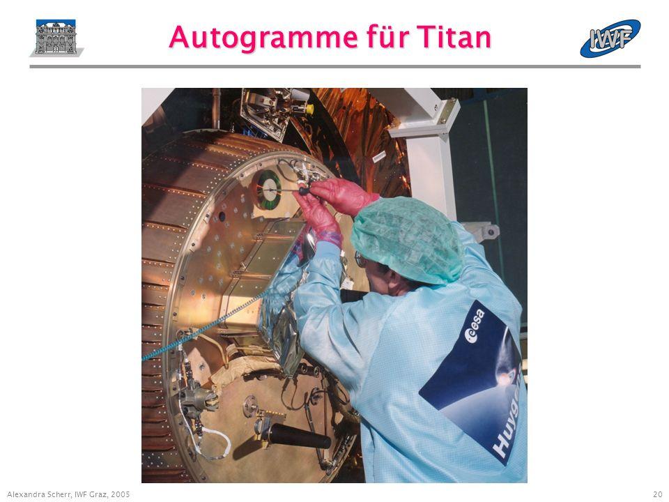 20 Alexandra Scherr, IWF Graz, 2005 Autogramme für Titan