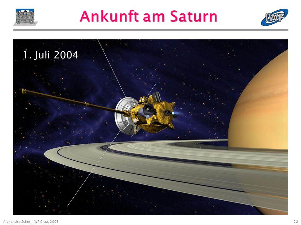 22 Alexandra Scherr, IWF Graz, 2005 Ankunft am Saturn 1. Juli 2004