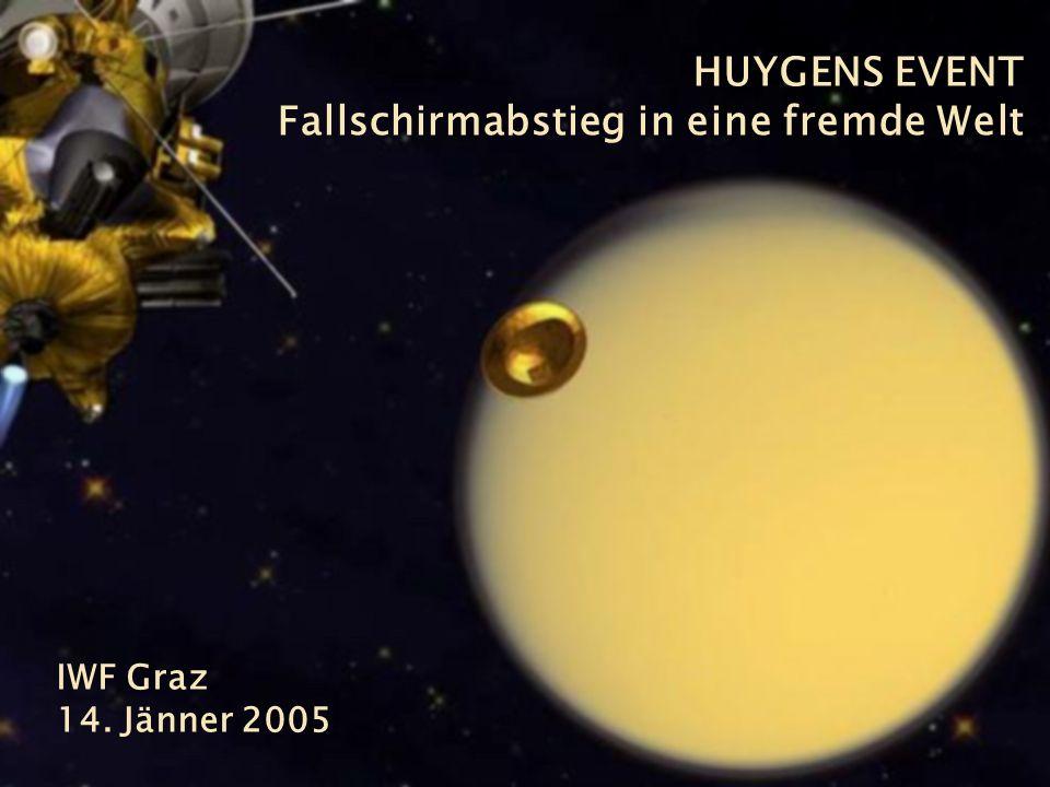 28 Alexandra Scherr, IWF Graz, 2005 HUYGENS EVENT Fallschirmabstieg in eine fremde Welt IWF Graz 14.