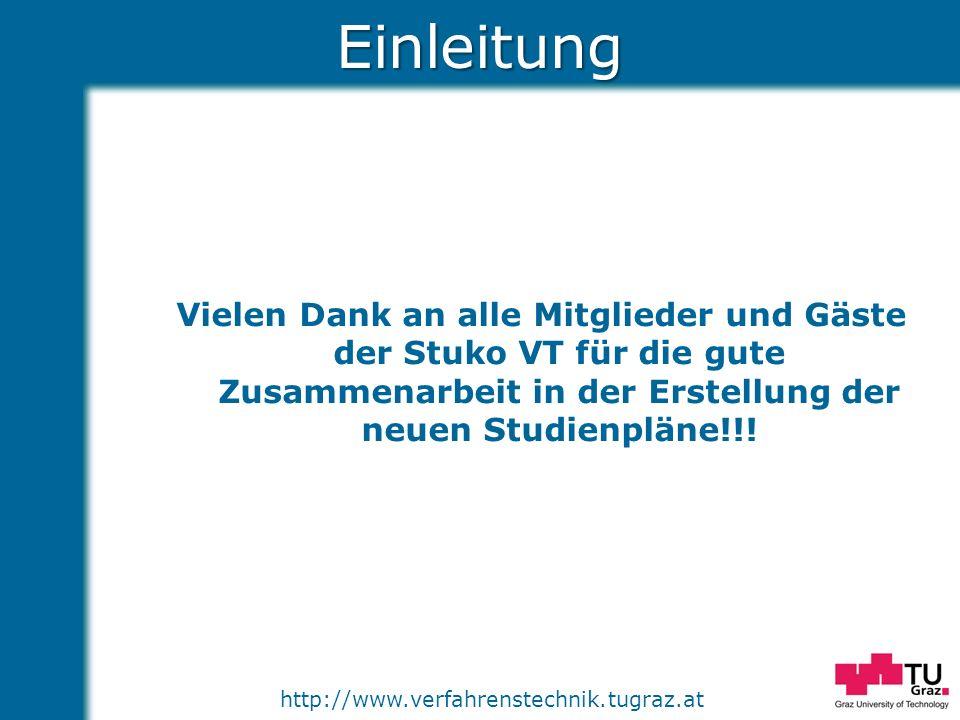 http://www.verfahrenstechnik.tugraz.atEinleitung Vielen Dank an alle Mitglieder und Gäste der Stuko VT für die gute Zusammenarbeit in der Erstellung d