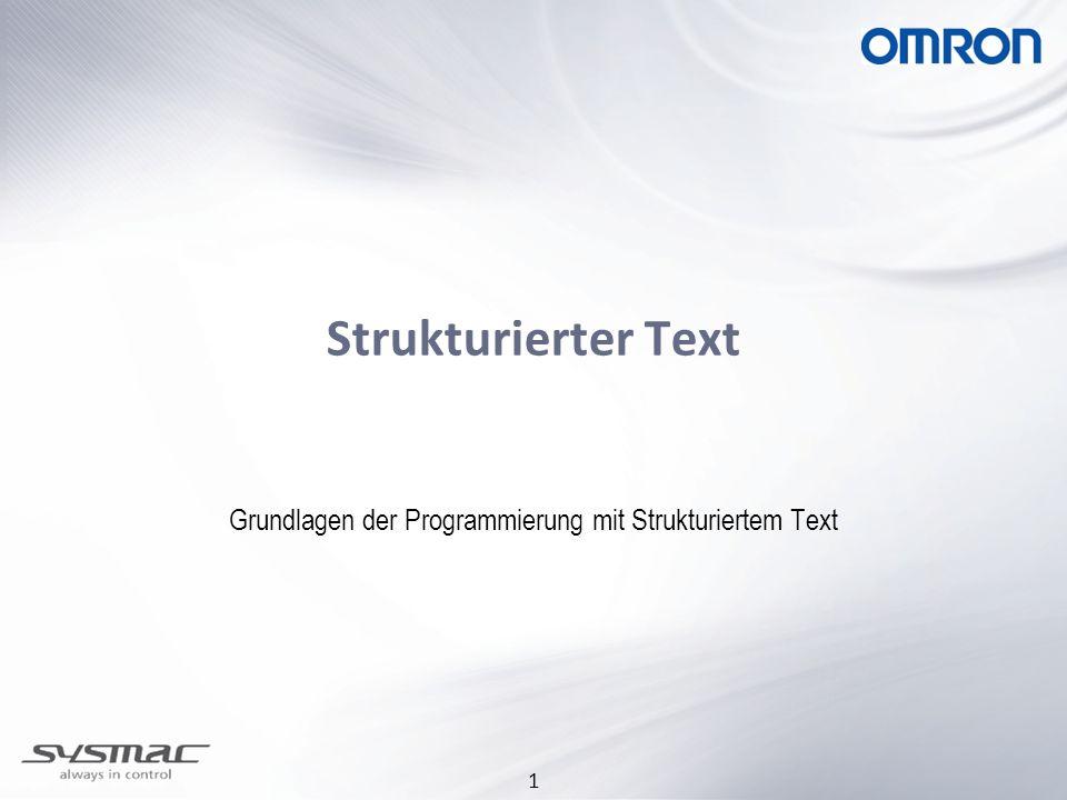 1 Strukturierter Text Grundlagen der Programmierung mit Strukturiertem Text