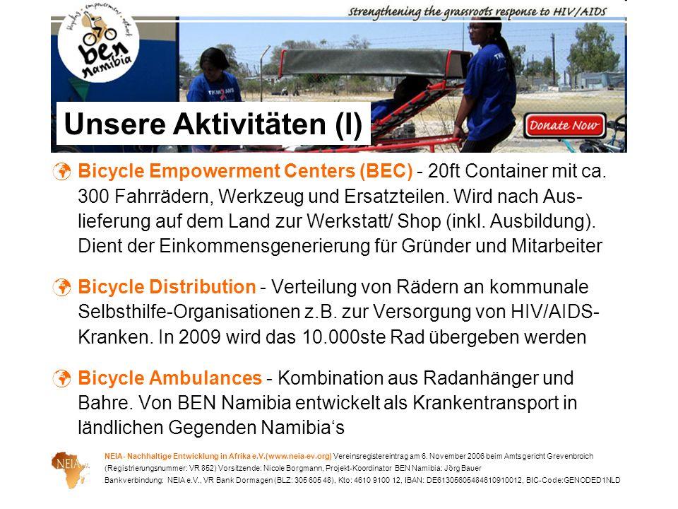 NEIA- Nachhaltige Entwicklung in Afrika e.V.(www.neia-ev.org) Vereinsregistereintrag am 6. November 2006 beim Amtsgericht Grevenbroich (Registrierungs