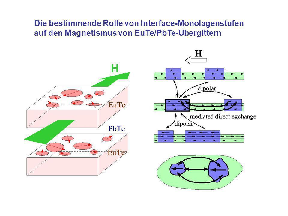 Die bestimmende Rolle von Interface-Monolagenstufen auf den Magnetismus von EuTe/PbTe-Übergittern H