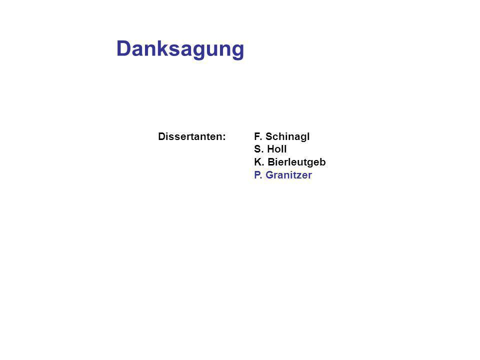 Danksagung Dissertanten:F. Schinagl S. Holl K. Bierleutgeb P. Granitzer
