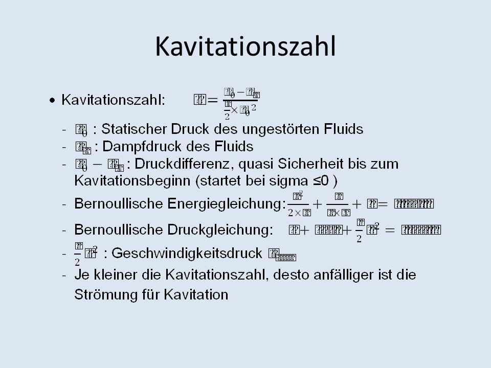 Hydrodynamische Ursachen von Kavitation