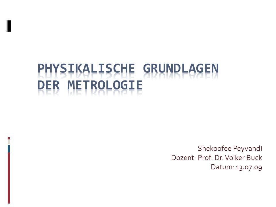 Shekoofee Peyvandi Dozent: Prof. Dr. Volker Buck Datum: 13.07.09