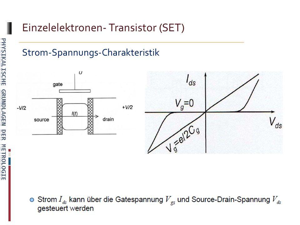 Einzelelektronen- Transistor (SET) Strom-Spannungs-Charakteristik