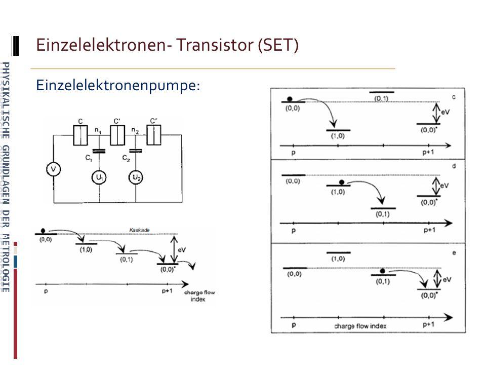Einzelelektronen- Transistor (SET) Einzelelektronenpumpe: