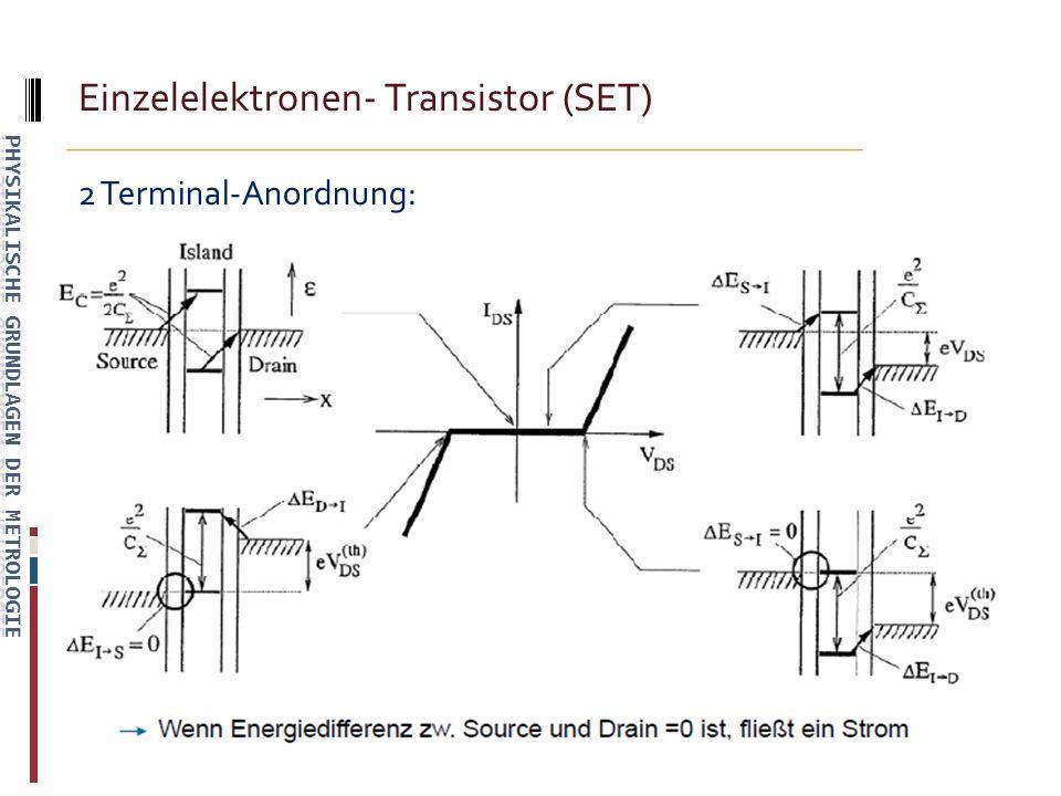 Einzelelektronen- Transistor (SET) 2 Terminal-Anordnung: