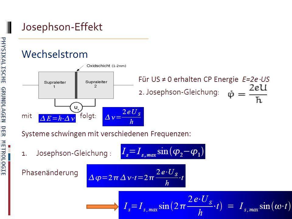 Josephson-Effekt Zusammenfassung: