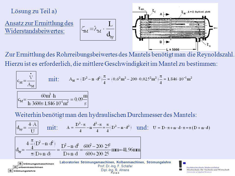 Folie 15 Laboratorien Strömungsmaschinen, Kolbenmaschinen, Strömungslehre Prof.