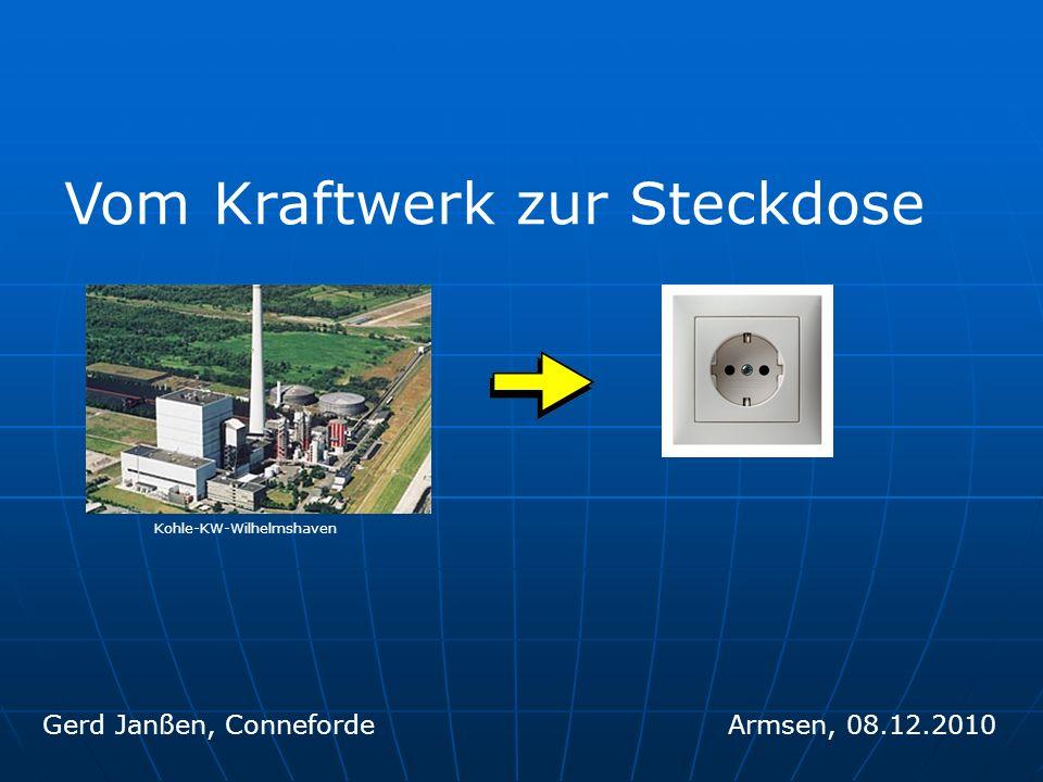 Vom Kraftwerk zur Steckdose Gerd Janßen, ConnefordeArmsen, 08.12.2010 Kohle-KW-Wilhelmshaven