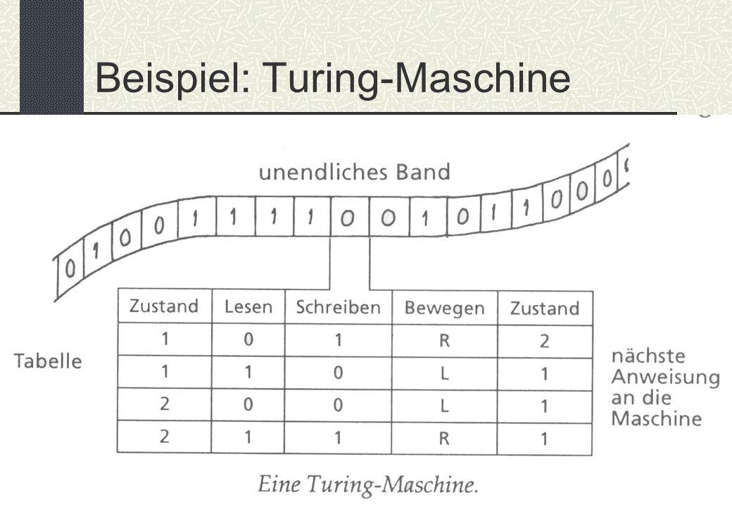 BIT – Schaßan – WS 02/03 Beispiel: Turing-Maschine