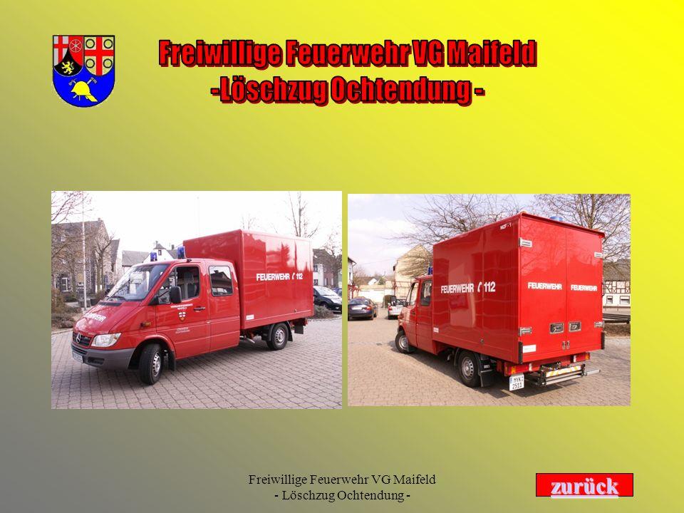 Freiwillige Feuerwehr VG Maifeld - Löschzug Ochtendung - Trägerfahrzeug MB Sprinter....