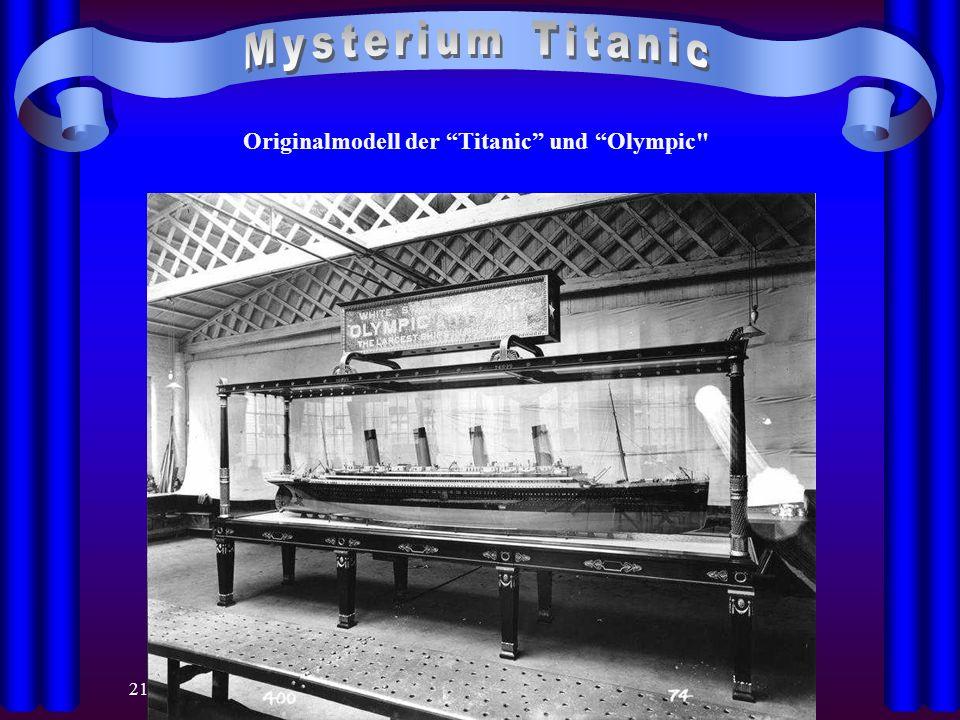 21.04.2014 Originalmodell der Titanic und Olympic