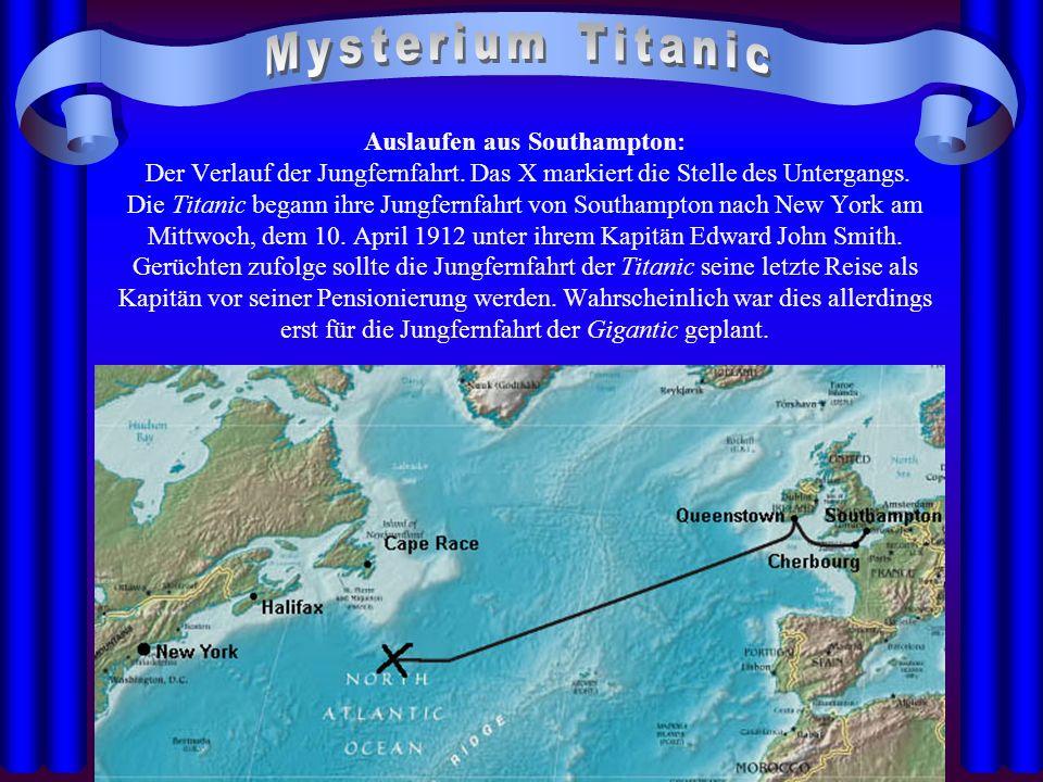 21.04.2014 Edward J. Smith Kapitän der Titanic