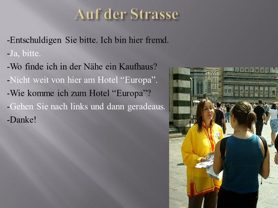 Stadtführer : Guten Tag, liebe Freunde.Ich begrüβe euch heute zu unserer Rundfahrt durch Berlin.