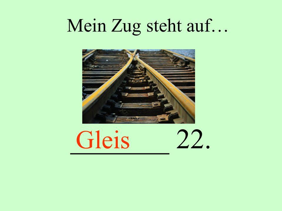 Mein Zug steht auf… _______ 22. Gleis