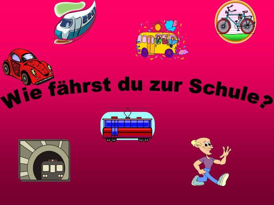 alt D er Bus ist (the bus is old) Ichfahre Prepositions and Dative case: After the preposition mit there is a sound change called the Dative SubjectVerb SubjectVerbPrepDative mit the bus the car the underground d em Bus d em Auto d er U-Bahn