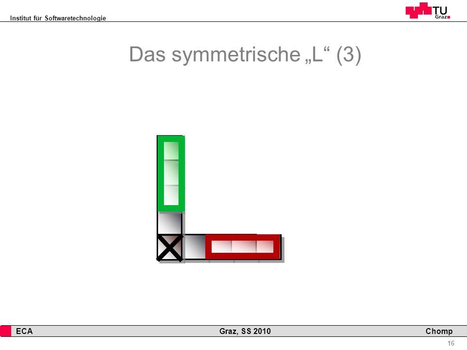 Institut für Softwaretechnologie 16 ECA Graz, SS 2010 Chomp Das symmetrische L (3)