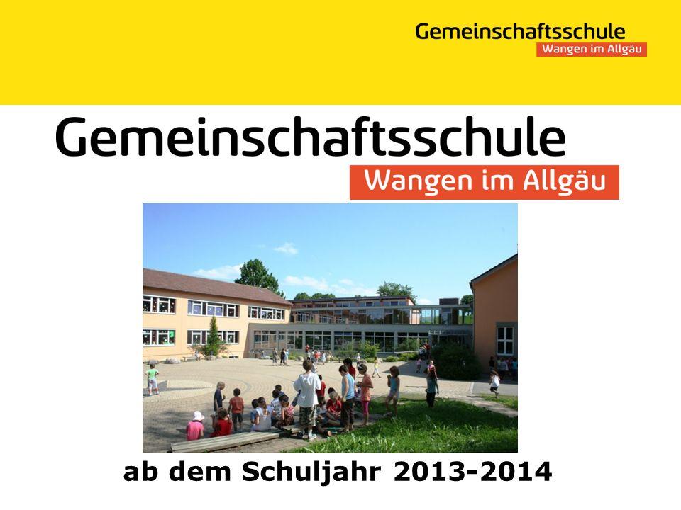 ab dem Schuljahr 2013-2014