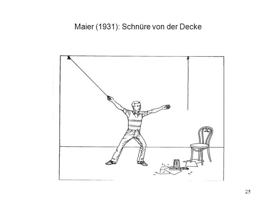 25 Maier (1931): Schnüre von der Decke