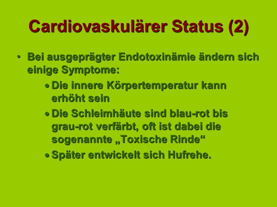 Hypovolämischer Schock Ursache: Verlust von zirkulierendem Volumen: Zurückbleiben im DarmlumenZurückbleiben im Darmlumen Hypersekretion (Enteritis)Hyp