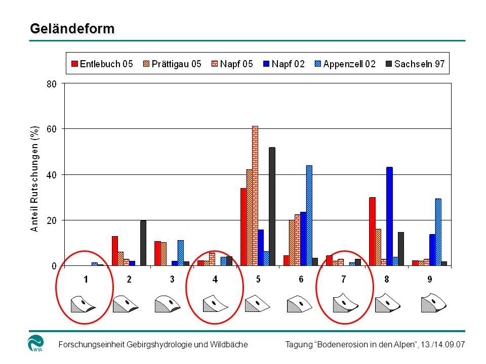 Forschungseinheit Gebirgshydrologie und WildbächeTagung Bodenerosion in den Alpen, 13./14.09.07 Geländeform