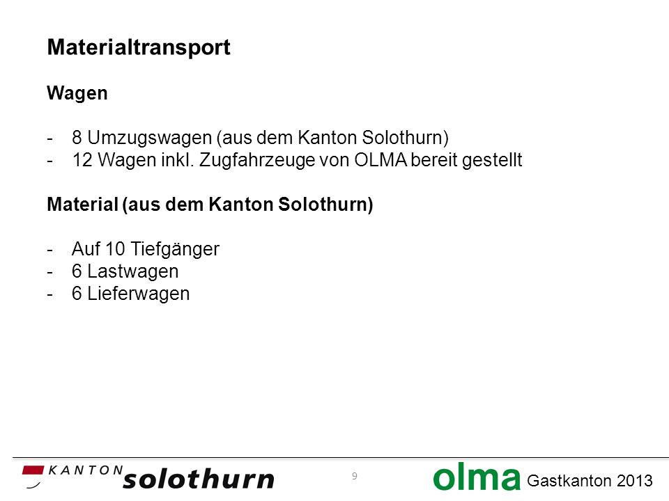 Materialtransport Wagen -8 Umzugswagen (aus dem Kanton Solothurn) -12 Wagen inkl.