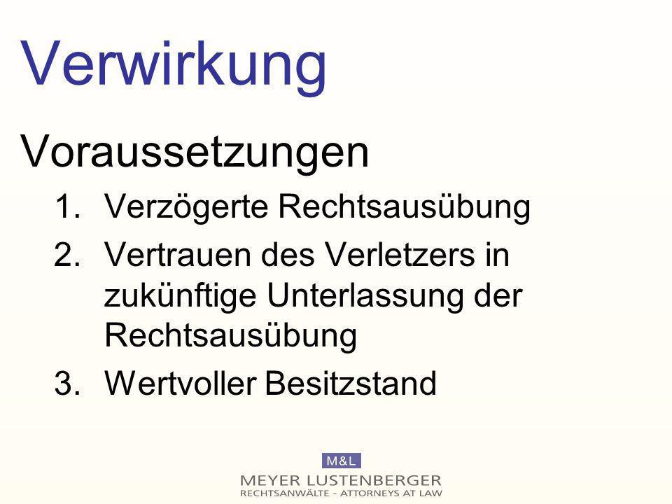 Verjährung KGer Zug, Resonanzetikette II