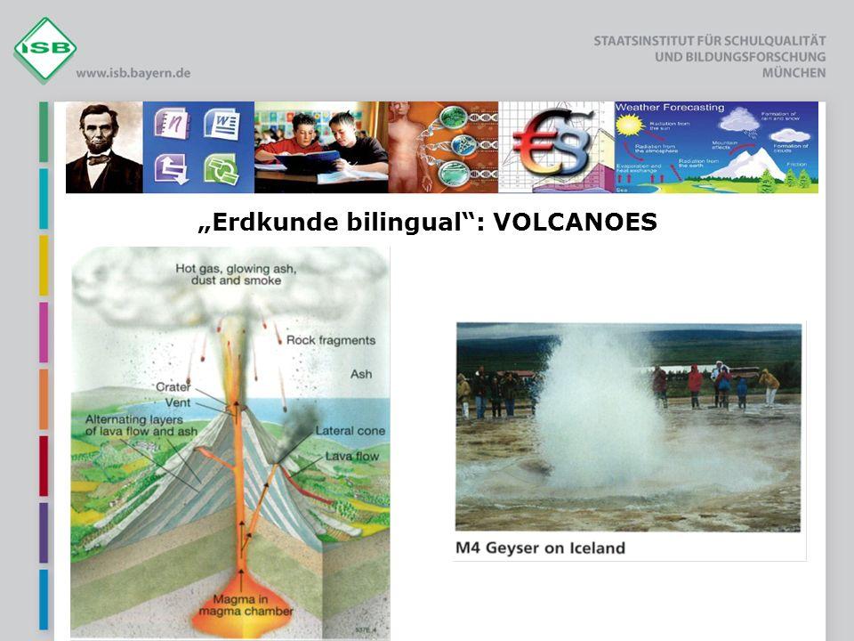 Erdkunde bilingual: VOLCANOES
