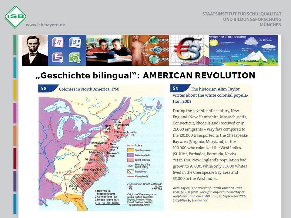 Geschichte bilingual: AMERICAN REVOLUTION