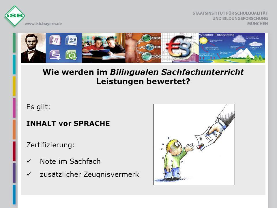 Publikationen: VORBEREITUNGSKURS Meyer, Oliver / Böttger, Heiner Materialien für den bilingualen Unterricht.