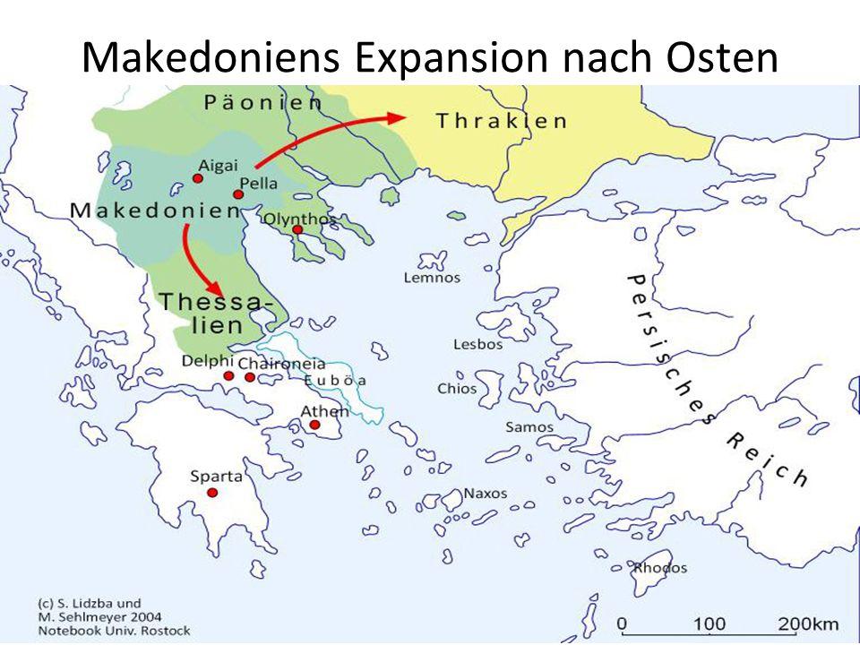 Makedoniens Expansion nach Osten