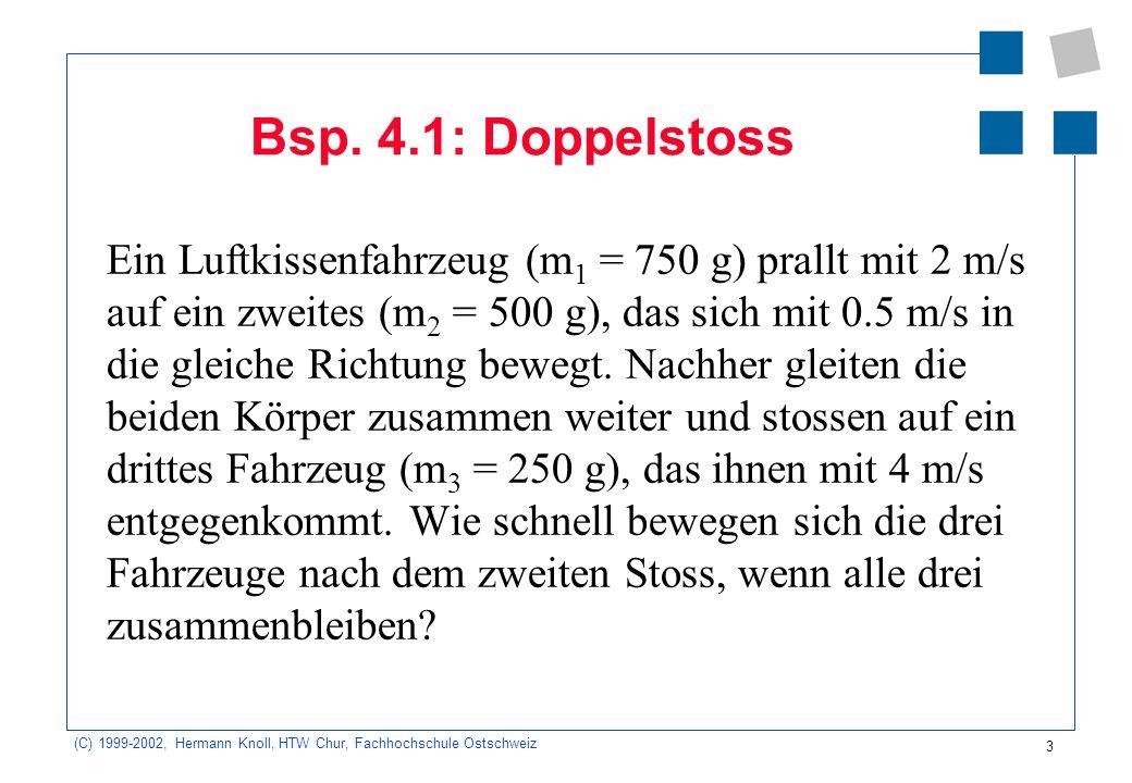 (C) 1999-2002, Hermann Knoll, HTW Chur, Fachhochschule Ostschweiz 3 Bsp.