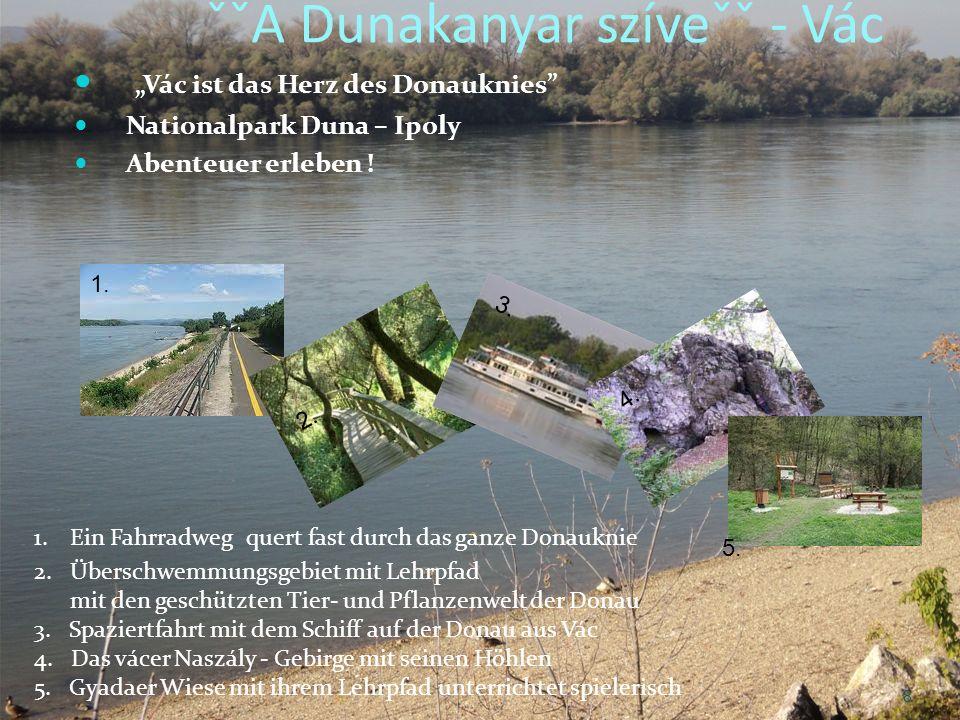 ˇˇA Dunakanyar szíveˇˇ - Vác Vác ist das Herz des Donauknies Nationalpark Duna – Ipoly Abenteuer erleben .