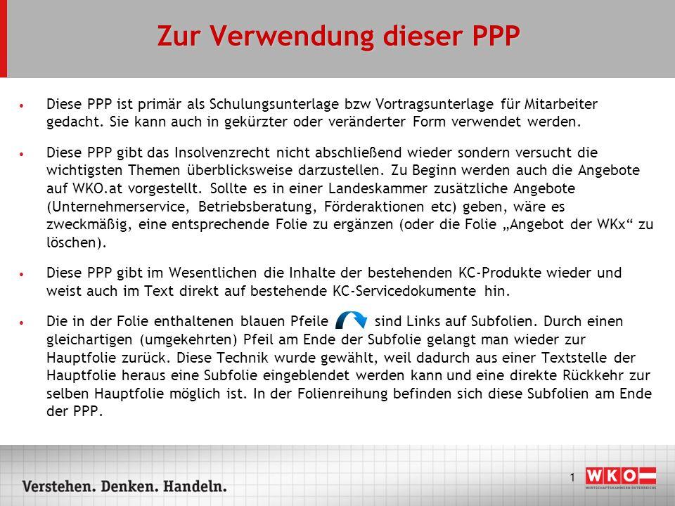 2 Zur Verwendung dieser PPP Der Titel und die Gestaltung der PPP sind neutral gehalten.