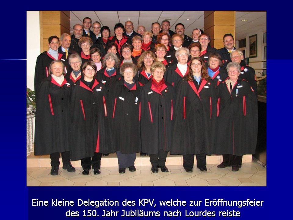 Eine kleine Delegation des KPV, welche zur Eröffnungsfeier des 150. Jahr Jubiläums nach Lourdes reiste