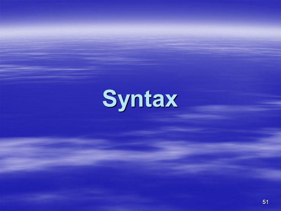 51 Syntax